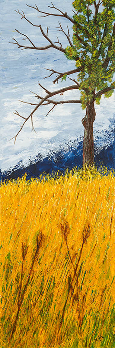 Paul's Tree 36x12 painting