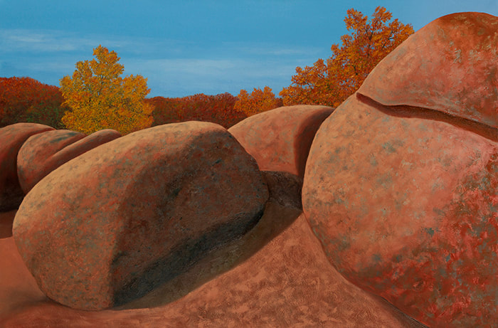 Elephant Rocks IV 24x36 painting