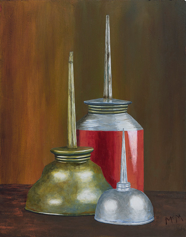 Three Oilers still-life painting