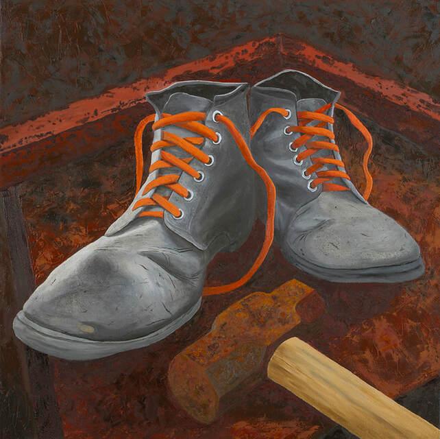 These Boots are Made for Working, still-life painting