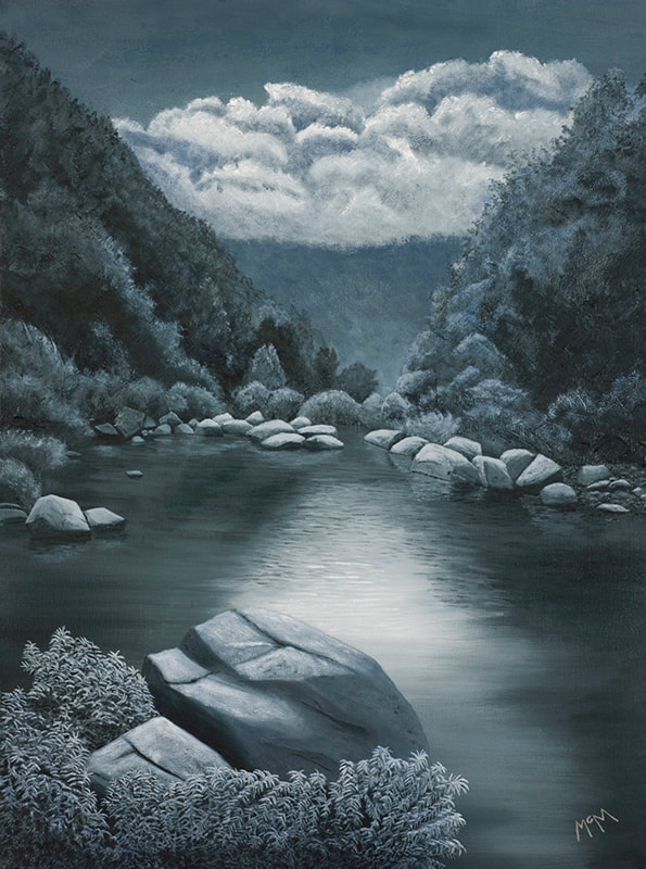 Richland Creek ​NW Arkansas 24X18 painting
