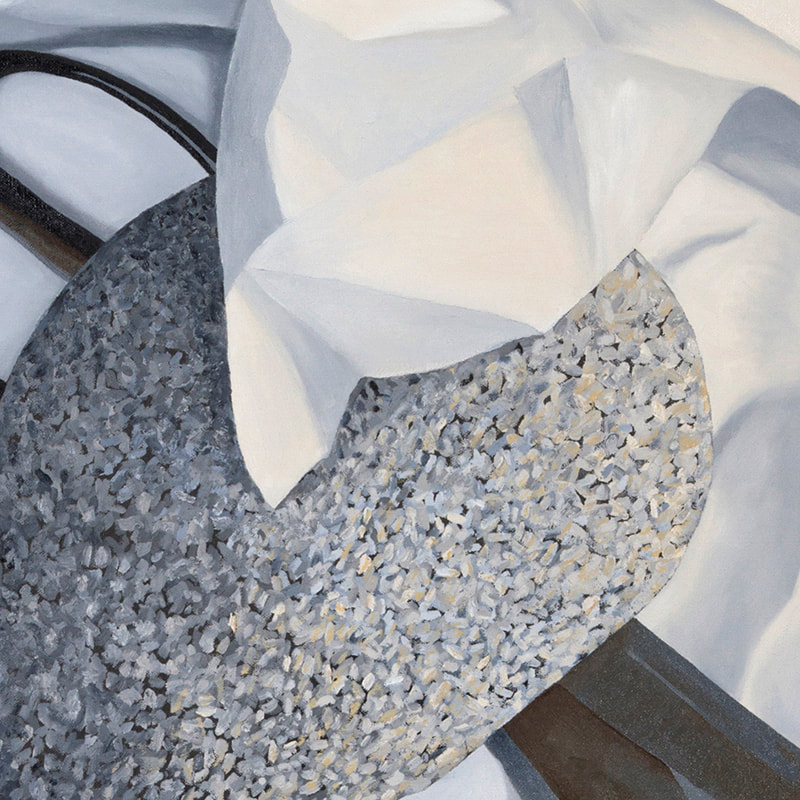 Detail of Rock, Paper, Scissors Painting