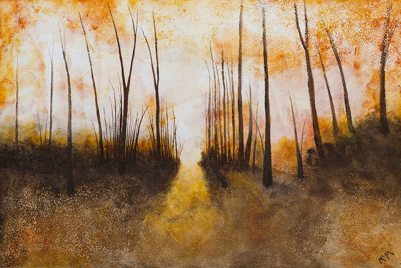 Timber Road Sunrise 24x36 painting