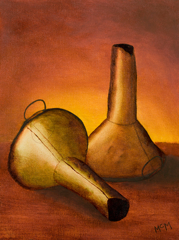 Two Funnels still-life painting