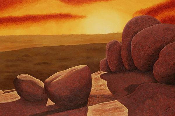 WINTER SOLSTICE, ELEPHANT ROCKS   24X36 painting